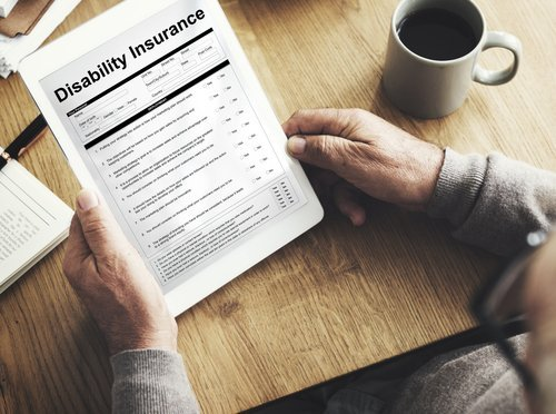 A fill up form for disability insurance